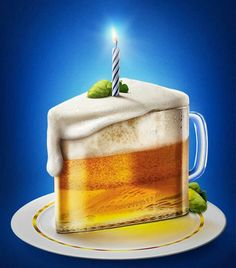 """Happy """"Beerday"""", dude! For all guy buddies of mine. You make me high in """"spirits""""! :D #birthday #beer"""