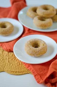 OH HELL YES!  Healthier Baked Pumpkin Donuts