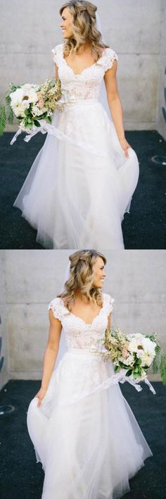 V-neck Wedding Dress, V-Neck Wedding Dress, 2018 Wedding Dress, Lace Wedding Dress, A-Line Wedding Dress, Wedding Dresses 2018 #Wedding #Dresses #2018 #Lace #Dress #VNeck #ALine #Vneck #2018WeddingDress #WeddingDresses2018 #LaceWeddingDress #VNeckWeddingDress #ALineWeddingDress #VneckWeddingDress