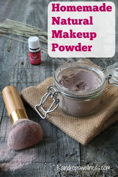 Homemade Natural Makeup Powder  Quality  cacao powder (where to buy) organic ground cinnamon ( where to buy) peach color mica powder (where to buy) Bentonite clay (where to buy) read more about my acne mask using botanical clay 5 drops Frankincense essential oil