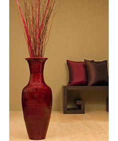 28inch bamboo floor vase u0026 floral arrangement