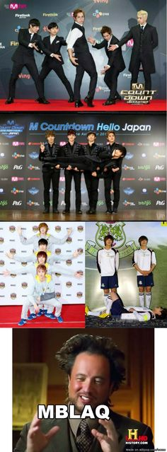 Men From Another Star | allkpop Meme Center i love the first photo! lol it looks like their showing off Mir's ass