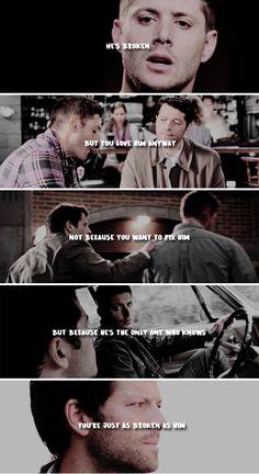 The one worth breaking for. Dean Winchester, Dean And Castiel, Winchester Brothers, Sam Dean, Sherlock Quotes, Sherlock John, Sherlock Holmes, Supernatural Sad, Fandoms Tumblr