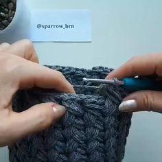 Crochet Bag Tutorials, Crochet Videos, Crochet Projects, Crochet Stitches Free, Knit Crochet, Crochet Basket Pattern, Crochet Patterns, Crochet Handbags, Crochet Designs