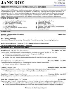 Accounts Payable Resume Template | Premium Resume Samples & Example, $9.95