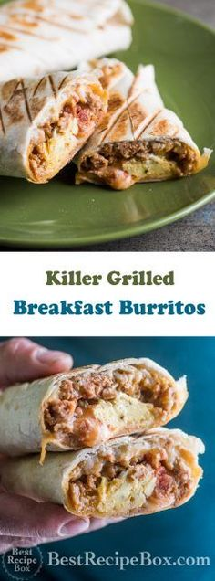 Killer Grilled Breakfast Burritos with Sausage Egg or Bacon Make Ahead Breakfast Burritos, Grill Breakfast, Breakfast Items, Sausage Breakfast, Best Breakfast, Breakfast Recipes, Breakfast Casserole, Bacon Sausage, Sausage Recipes