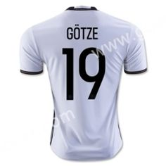 2016 European Cup Germany GöTZE Home White Thailand Soccer Jersey