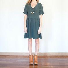Anna Dress in Forest | wiksten