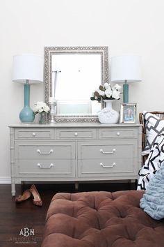 Follow this simple tutorial on how to use chalk furniture paint to makeover a… #bedroomfurniture
