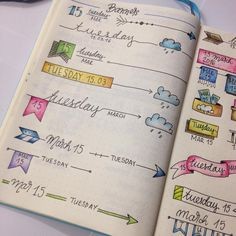 Bullet journal - daily spread headers