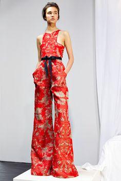 Red printed jumpsuit