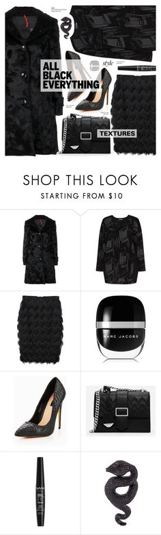 """All black fashion - street style"" by cly88 ❤ liked on Polyvore featuring RRD, Doris Streich, MANGO, Marc Jacobs, Lost Ink, CHARLES & KEITH, NYX and Lydia Courteille"