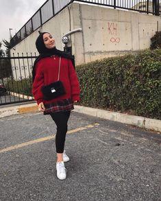 Modern Hijab Fashion, Street Hijab Fashion, Hijab Fashion Inspiration, Winter Fashion Outfits, Muslim Fashion, Women's Fashion Dresses, Hijab Casual, Hijab Chic, Hijab Outfit