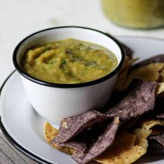 Roasted Hatch Chile and Tomatillo Salsa.