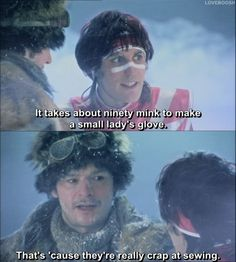 Per the Mighty Boosh, mink are crap at sewing