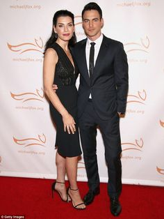 A good outfit: An extremely elegant Julianna Margulies led a red carpet filled with A-list celebrities attending the benefit gala for the important cause