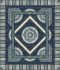 Northcott Fabrics Meadow Stars Twin Size Quilt Kit