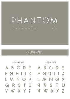 Phantom is a free uppercase font with a perfectly round Os and Qs – often a very desirable quality in graphic design.