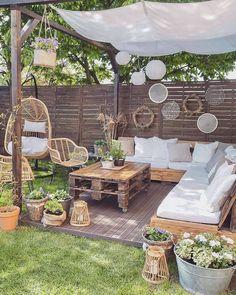 Backyard Seating, Small Backyard Landscaping, Backyard Patio Designs, Small Backyard Design, Patio Ideas, Backyard Ideas, Outdoor Rooms, Outdoor Living, Outdoor Decor