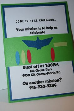 buzz lightyear party invitation