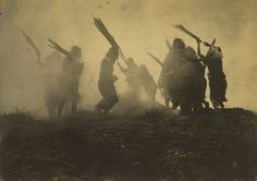 Early Native Americans doing the Eclipse Dance