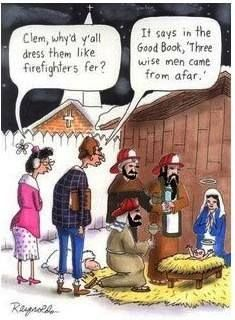 Sounds about right to me. ;) #Firefighter #Firefighting #Christmas #Nativity