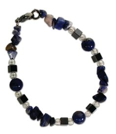 Sodalite Natural Stone Bracelet. A project from the Crafts Direct Beading 101 class.