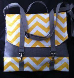 Gray Sunshine Messenger Bag by FabBagsbyK on Etsy, $30.00
