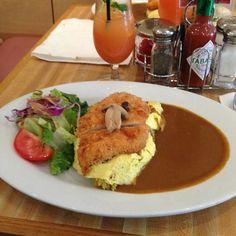 Curry Chicken katsu omu rice