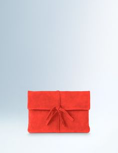 Soft Suede Clutch AM258 Handbags, Clutches & Wallets at Boden