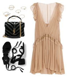 """Untitled #10922"" by katgorostiza ❤ liked on Polyvore featuring Chloé, Yves Saint Laurent and MANGO"