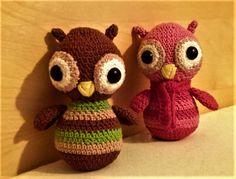 Bagolyságok 😊 Amigurumi owl , crochet owl Amigurumi Toys, Yoshi, Owl, Teddy Bear, Crochet, Animals, Character, Animales, Animaux