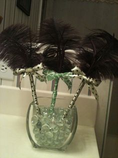 Feather pen: For our guest book table