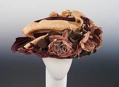 Straw and silk hat ca. 1908