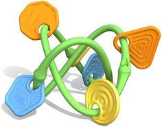 Green Toys™ Twist Teether - 100% recycled plastic, made in the USA - right here in the SF Bay Area!