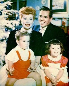 The Arnaz Family - Christmas 1954. Sad that there marriage wasn't as happy as their show. :-(