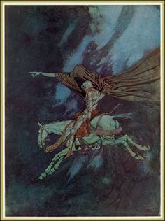 Emund Dulac's illustrations from 'The Poetical Works Of Edgar Allan Poe',1912 - El Dorado -The Conquistadores who searched for the fabled city of El Dorado often paid with their lives.