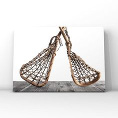 This listing is for One print of two Old Wooden Vintage Mohawk Indian Lacrosse Sticks. This is available in 4 color choices as pictured. A perfect print for your little boys room or nursery or Man cave! Please select either photo or canvas as well as the size youd like from the drop down menu as you Mohawk Indians, Lacrosse Sticks, Professional Photo Lab, Boys Room Decor, Decorate Your Room, Nursery Prints, Photo Wall Art, Photographic Prints, Canvas Prints
