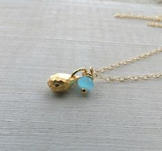 Gold necklace, gold charm, blue and gold necklace,14k gold layering necklace by BLUEskyBLACKbird on Etsy https://www.etsy.com/listing/171473267/gold-necklace-gold-charm-blue-and-gold