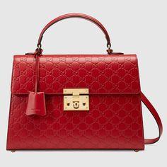 Padlock Gucci Signature top handle - Gucci Women's Top Handles & Boston Bags 428208CWC1G6433