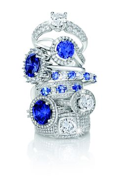 Spring Collection: Elegant Silver, Tanzanite and Cubic Zirconia Rings *Valid until Nov 2013 Gold Jewelry, Fine Jewelry, Jewellery, South African Fashion, Cubic Zirconia Rings, Jewelry Photography, Stacking Rings, Spring Collection, Sapphire