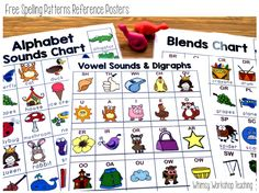 Free Reference Charts For Student Desks Or Writing Center Area