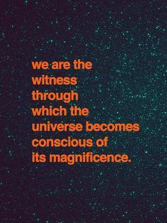 Be conscious.