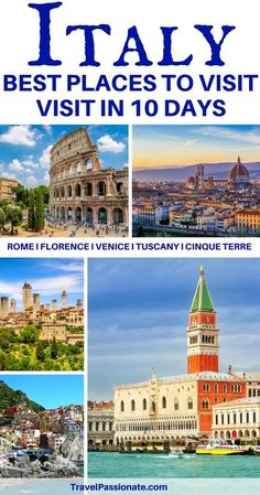 Planning a trip to Italy? Check out this 10 days itinerary. Things to do and see in Italy in 10 days. This Italy itinerary includes Rome, Florence, Tuscany, Cinque Terre and Venice.