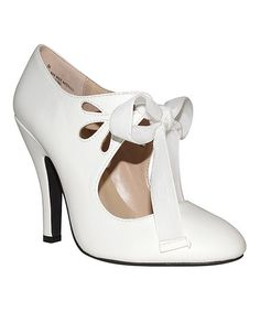 Look at this #zulilyfind! White Hailee Bow Pump by DOLCE by Mojo Moxy #zulilyfinds