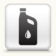 Square Button with Car Oil vector art illustration