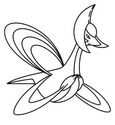 Pokemon Coloring Pages Shaymin In Sky Form Page Free Printable