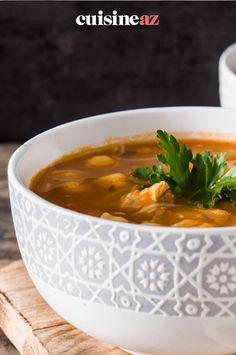 Envie d'essayer une soupe traditionnelle du Magreb au Thermomix ? Voici la recette de la Harira. #recette #cuisine #soupe #harira #robot #robotculinaire #thermomix Voici, Robot, Cream Soups, Cooking Recipes, Envy, Thermomix, Robots