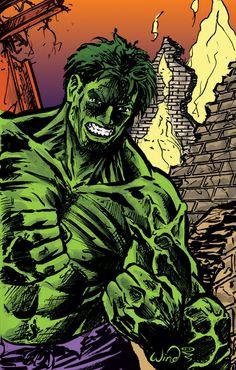 #Hulk #Fan #Art. (The Incredible Hulk - small sketch with flat color) By: Kevin-Wind. (ÅW YEAH, IT'S MÅJOR ÅWESOMENESS!!!™)