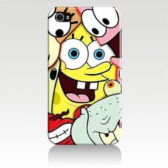 Spongebob iPhone 4 4S 5 5S Case Patrick Squidward Mr.Krabs Sandy